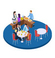 business people on a coffee break isometric vector image vector image