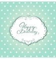 Card with frame and polka dot background vector image vector image