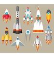 Cartoon rockets icons vector image vector image