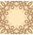 celtic ornamental design element vector image