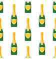 champagne bottle seamless pattern vector image vector image