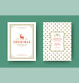 christmas greeting card vintage design ornate vector image