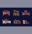 cinco de mayo viva mexico - may 5 federal vector image vector image