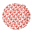 circle watercolor hearts vector image vector image