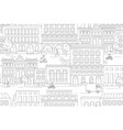 cityscape houses buildings street vector image