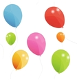 Colored balloons seamless pattern Eps 10 vector image