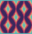colorful seamless ikat ethnic pattern vector image vector image