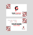 cp logo letter with box decoration on edge vector image vector image