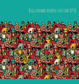 crowd big group people seamless pattern and sky vector image vector image