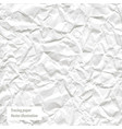 crumpled white paper trace vector image vector image