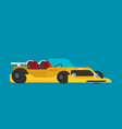 custom racing car flat style vector image vector image