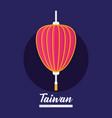 decorative lantern icon vector image