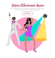 Disco and Electronic Dance Conceptual Banner vector image