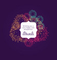 diwali wishes greeting card design with colorful vector image vector image