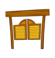 Doors in western saloon icon cartoon style vector image vector image