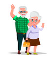 elderly couple grandpa with grandmother vector image
