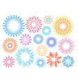 festive fireworks celebrating design element set vector image
