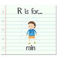 Flashcard alphabet R is for rain vector image vector image