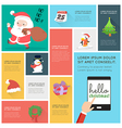 Flat Design christmas Icons Infographic vector image vector image