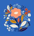 flower print vector image