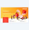 food delivery website design vector image