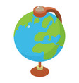 globe icon isometric 3d style vector image vector image