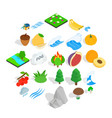 grain icons set isometric style vector image vector image