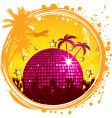 grunge tropical party vector image vector image