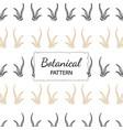 hand drawn botanical pattern background vector image