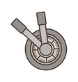 handle safe box isolated icon vector image vector image