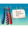 Happy Fathers Day Background With A Three Ties vector image vector image