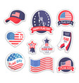 happy flag day usa day set vector image