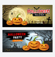 happy halloween banner collections design vector image vector image
