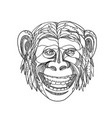 humanzee smiling doodle vector image vector image