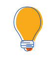 light energy bulb to illumination vector image vector image