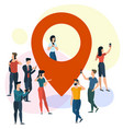 location map pointer concept vector image vector image
