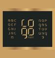 logo wood alphabet letters vector image