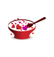 love happy valentines day template vector image vector image