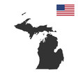 map of the us state of michigan vector image vector image