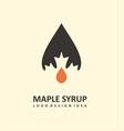 maple syrup logo design vector image vector image