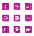 mental money icons set grunge style vector image vector image