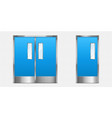 metal doors with glass elements 3d entry vector image vector image
