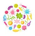 microorganism bacteria virus cell disease vector image