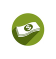 Money stack icon isolated vector image