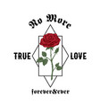 no more true love forever and ever abstract vector image
