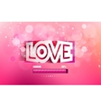 paper inscription love vector image vector image