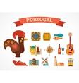 Portugal - set of icons vector image vector image