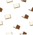 Seamless brown book with pattern background