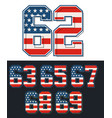set numbers retro vector image