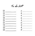 set to do lists page templates doodle vector image
